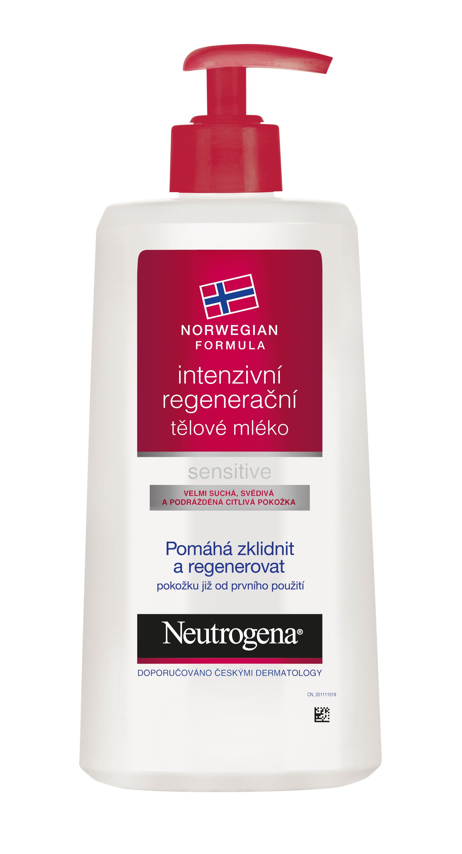 NEUTROGENA intenzivni regeneracni telove mleko sensitive red